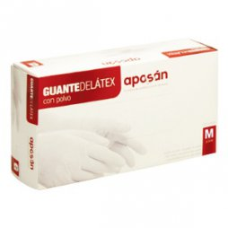 Aposan Guante Latex Mediana