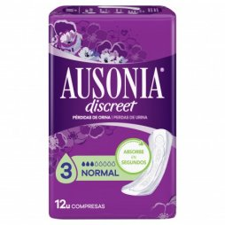 Ausonia Discreet Normal 4x12 12uds